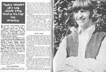 Ringo Starr Interview Beatles Book Monthly December 1966